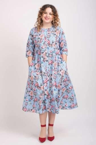 Mixed Print Long Shirt Dress2