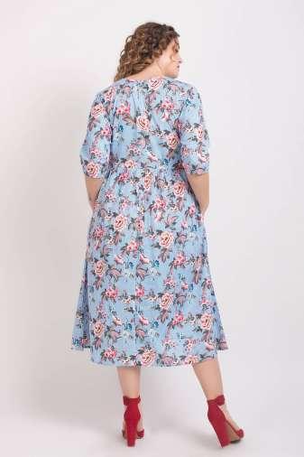 Mixed Print Long Shirt Dress4