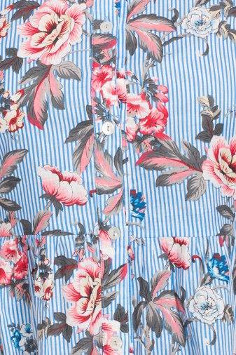Mixed Print Long Shirt Dress5