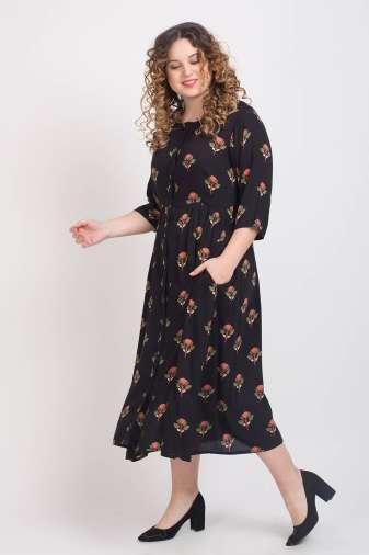 Black Pleated Long Shirt Dress4