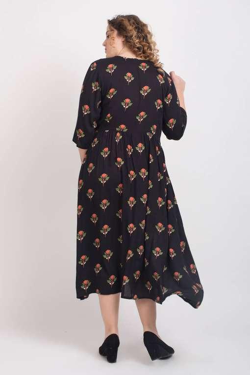 Black Pleated Long Shirt Dress5