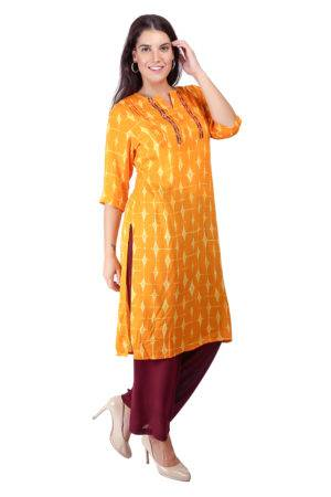 Yellow Pleated kurti8