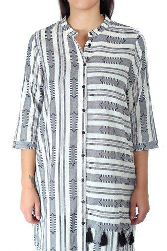 Monochrome high low kurti1