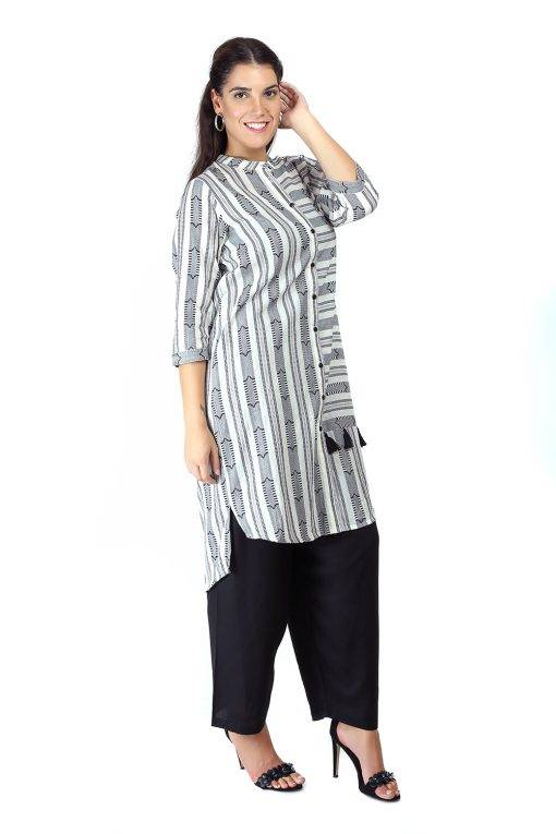 Monochrome high low kurti6