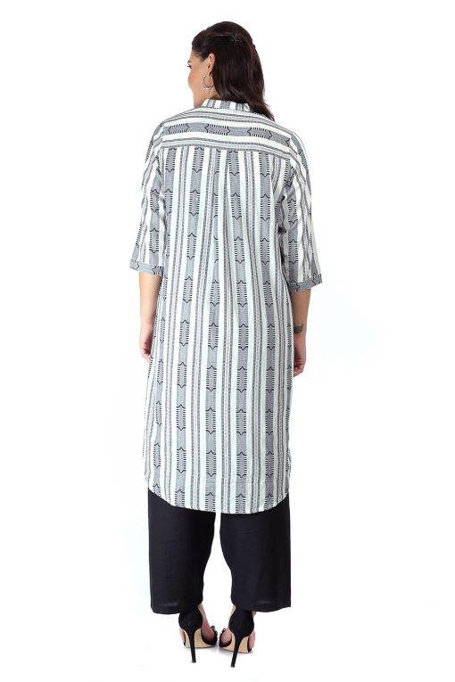 Monochrome high low kurti7
