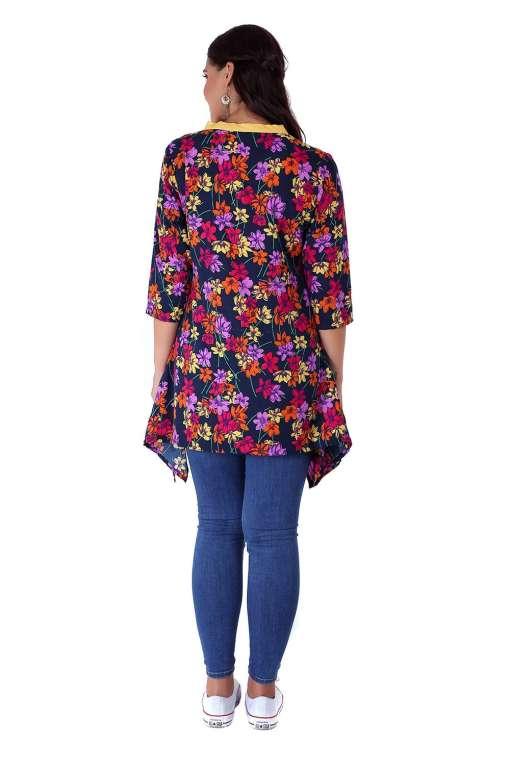 multi color floral short kurti1