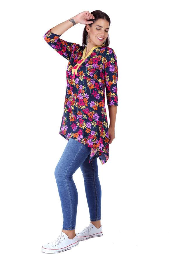 multi color floral short kurti5