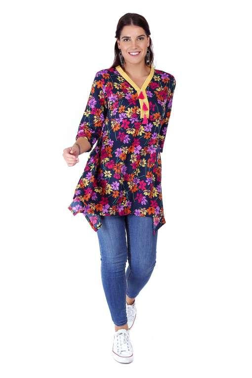 multi color floral short kurti7