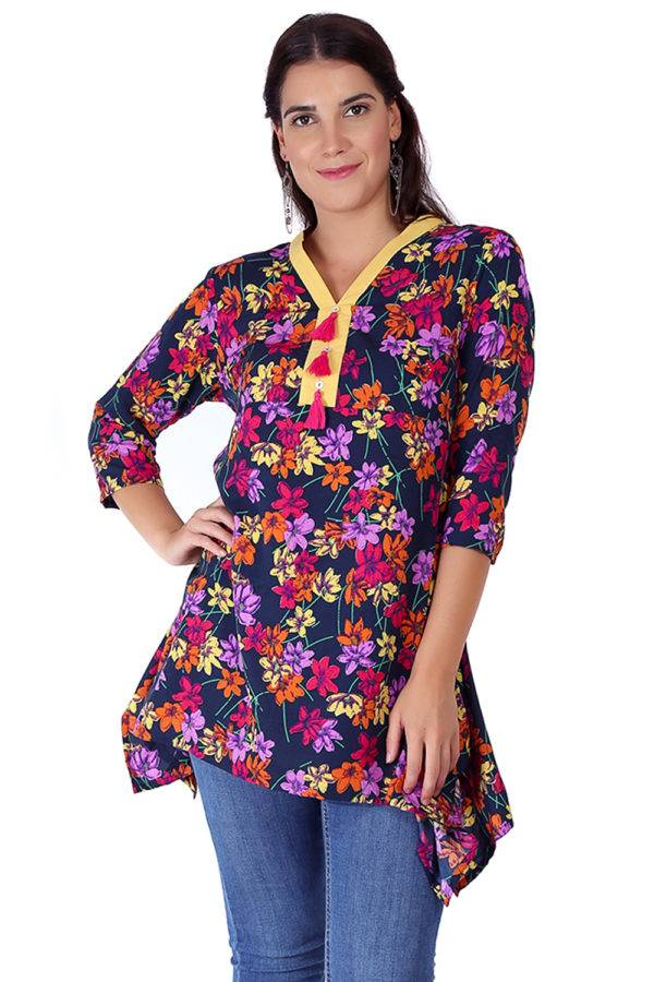multi color floral short kurti8
