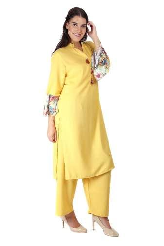 Yellow Bell Sleeve Kurti6