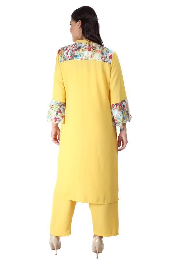 Yellow Bell Sleeve Kurti7