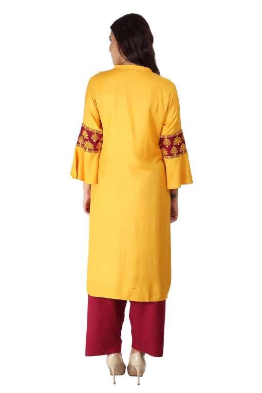 yellow-maroon kurti8