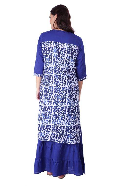 Princes Line Blue White Panel Kurti6