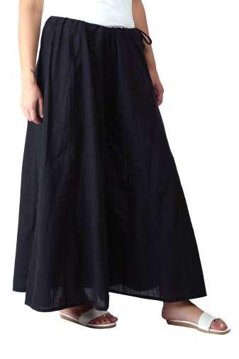 Solid Black Skirt Palazzo1