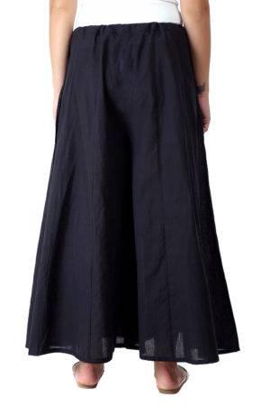 Solid Black Skirt Palazzo2