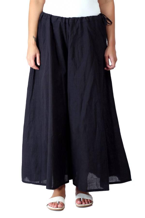 Solid Black Skirt Palazzo3
