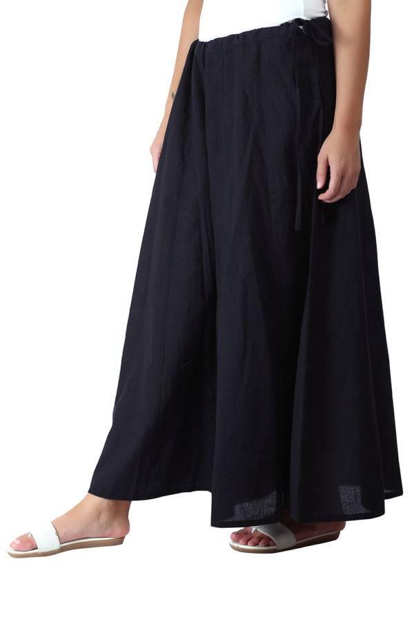 Solid Black Skirt Palazzo4