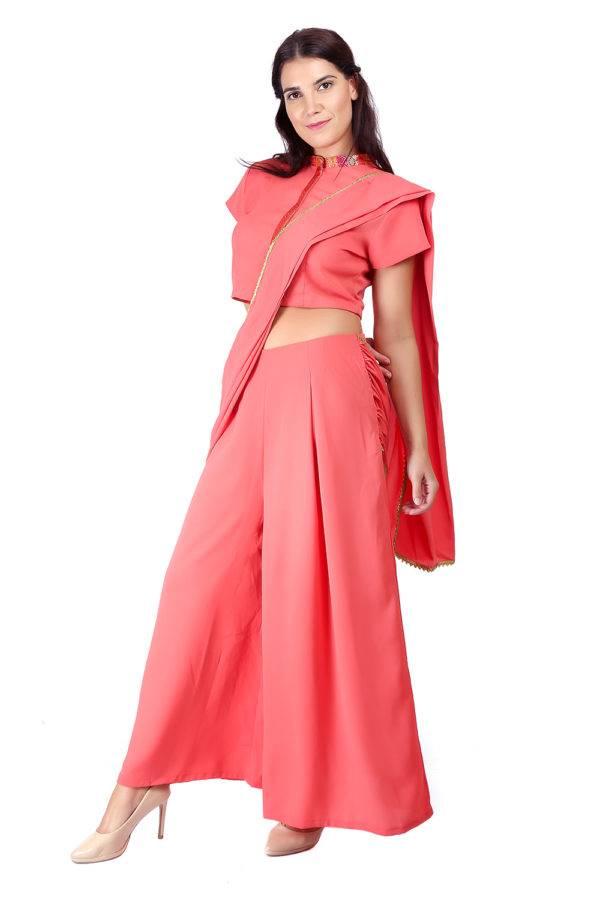 Pink saree + blouse set3