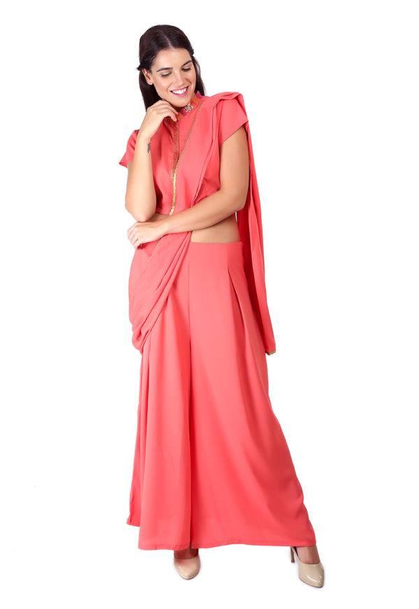 Pink saree + blouse set6