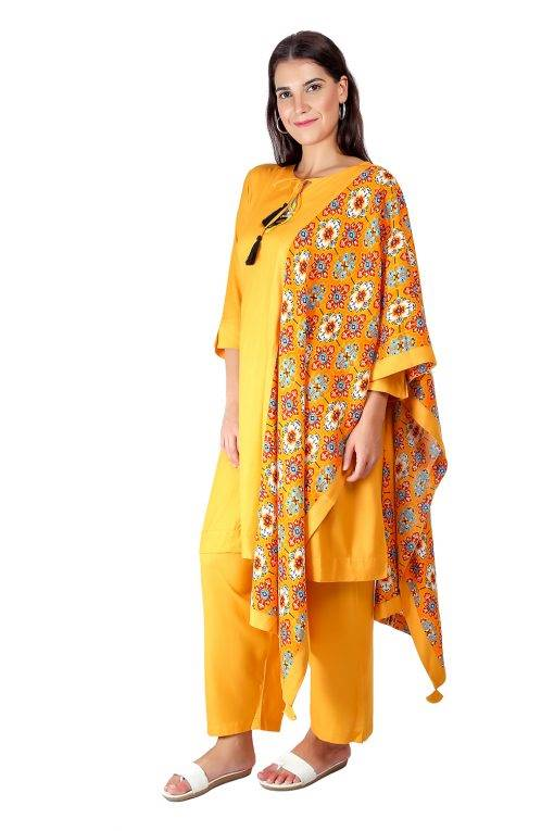 Yellow Printed Dupatta5