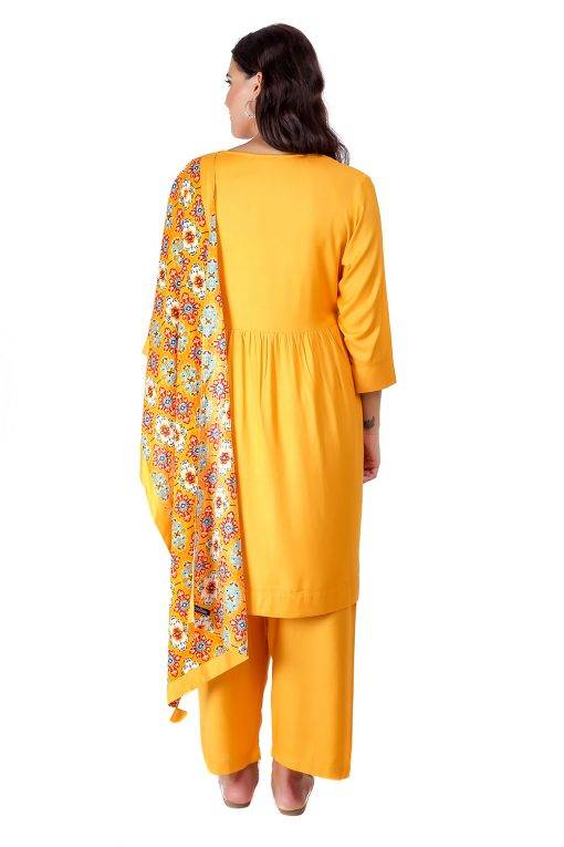 Yellow Printed Dupatta7