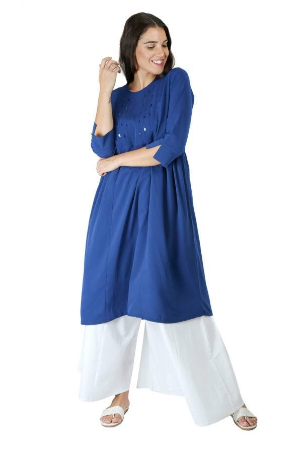 Blue Anarkali Kurti2