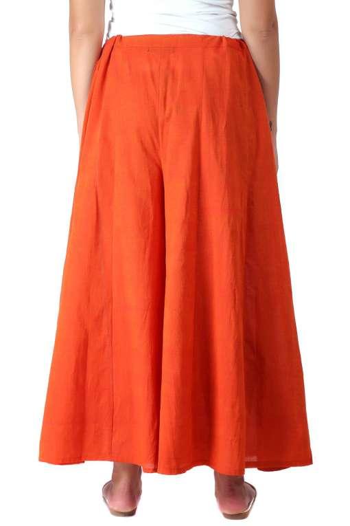 Orange Skirt Plazzo1