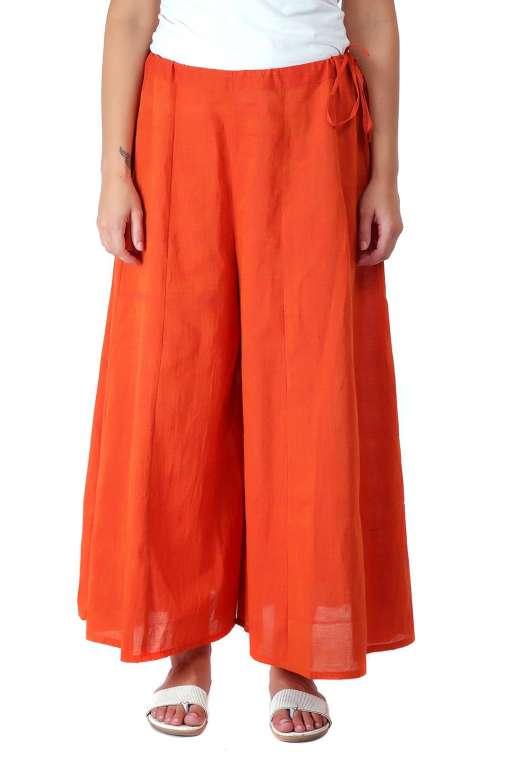 Orange Skirt Plazzo2