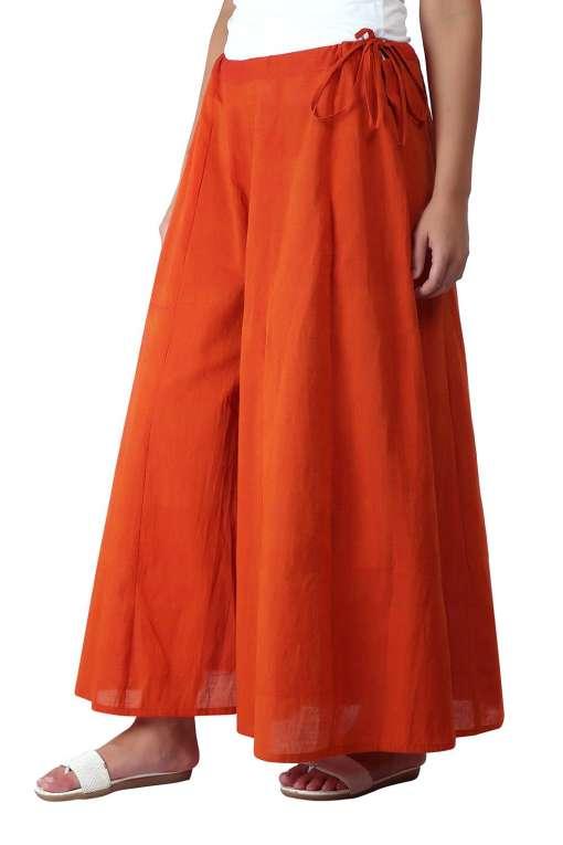 Orange Skirt Plazzo3