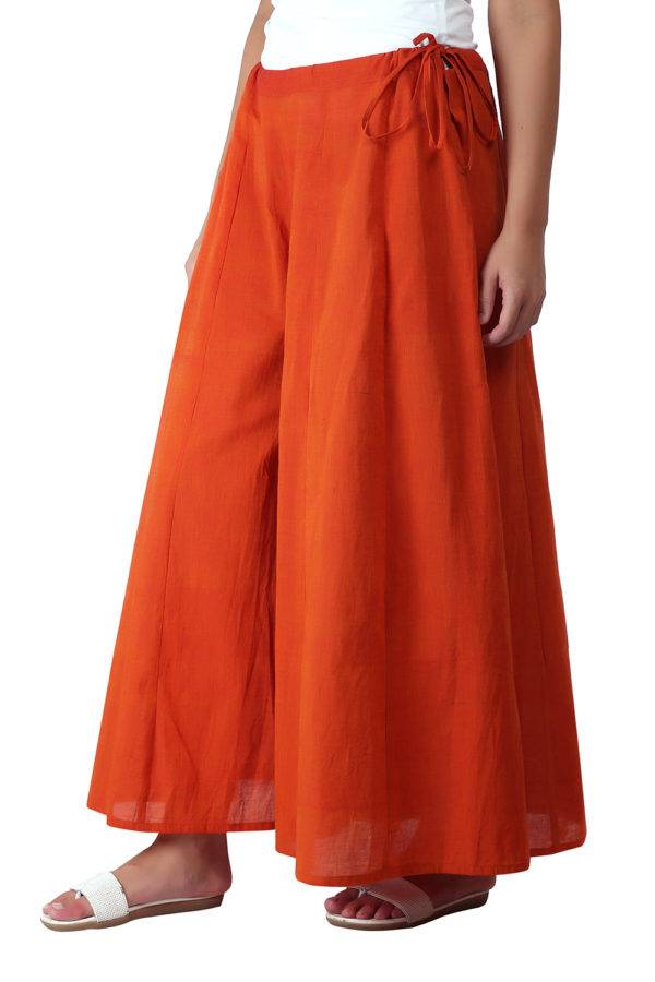 Orange Skirt Plazzo3