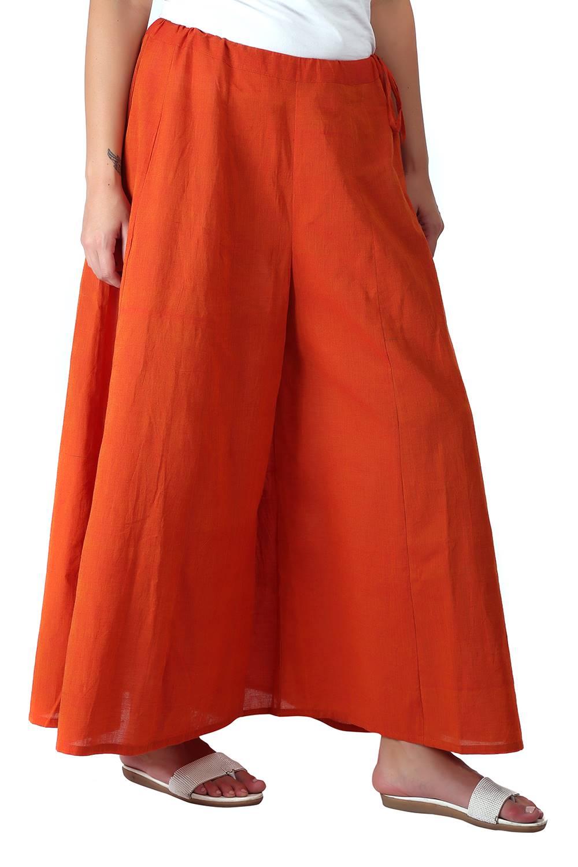 Orange Skirt Plazzo4