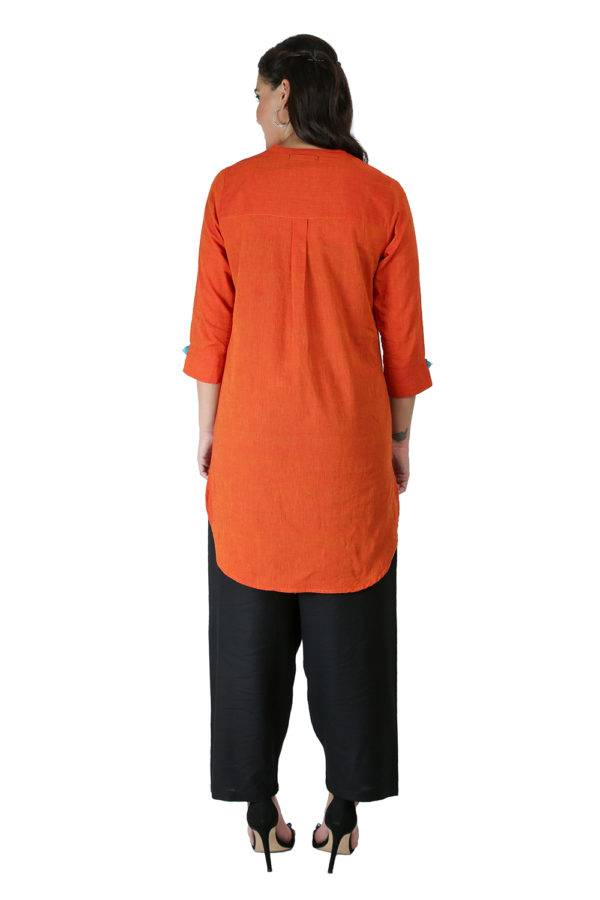 Orange Handloom Kurti7