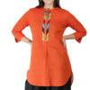 Orange Handloom Kurti8