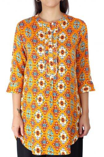 Short Yellow kurti1