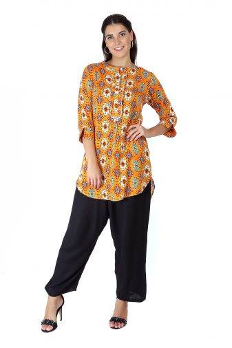 Short Yellow kurti2