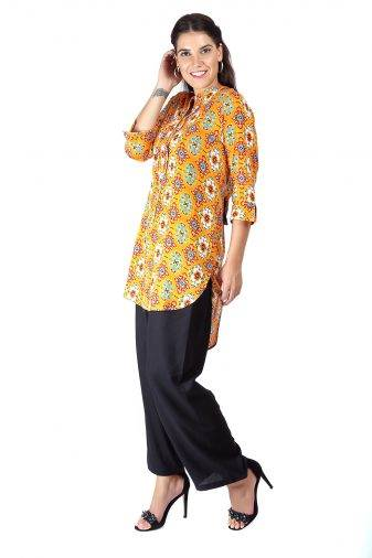 Short Yellow kurti5