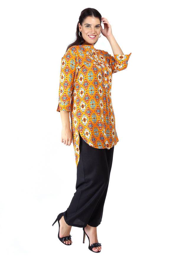 Short Yellow kurti6