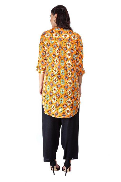 Short Yellow kurti7