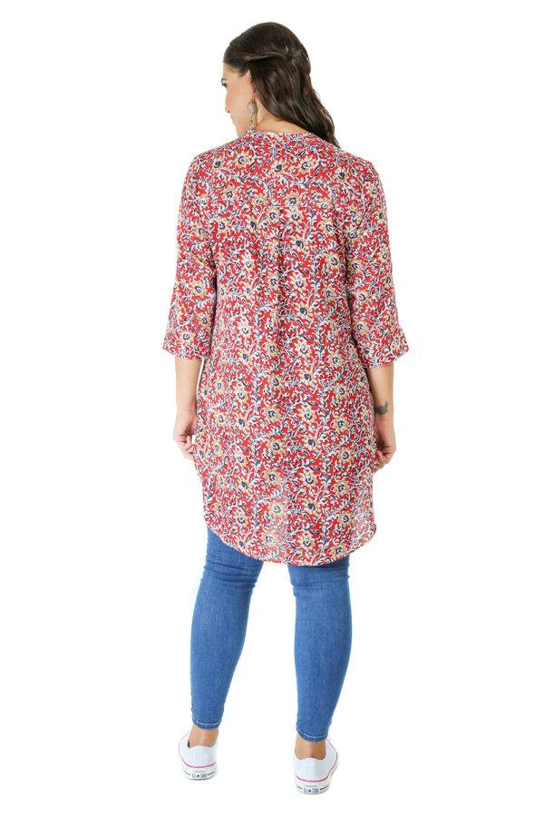 High Low Short Multicolour Kurti1