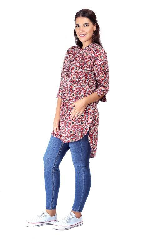 High Low Short Multicolour Kurti5