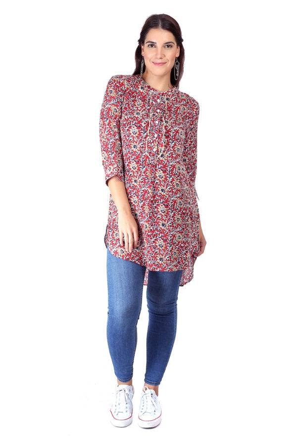 High Low Short Multicolour Kurti7