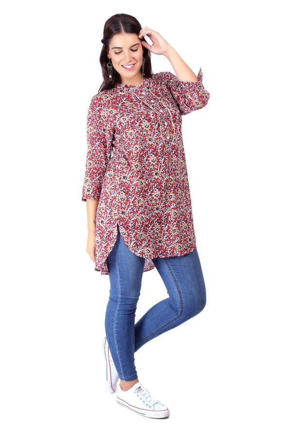 High Low Short Multicolour Kurti8