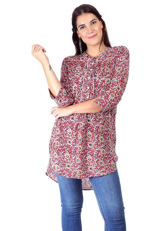 High Low Short Multicolour Kurti