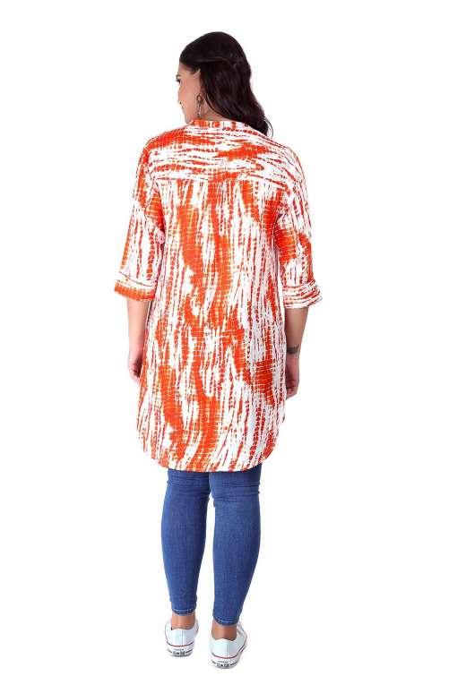 orange tie-dye short kurti1