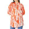 orange tie-dye short kurti2