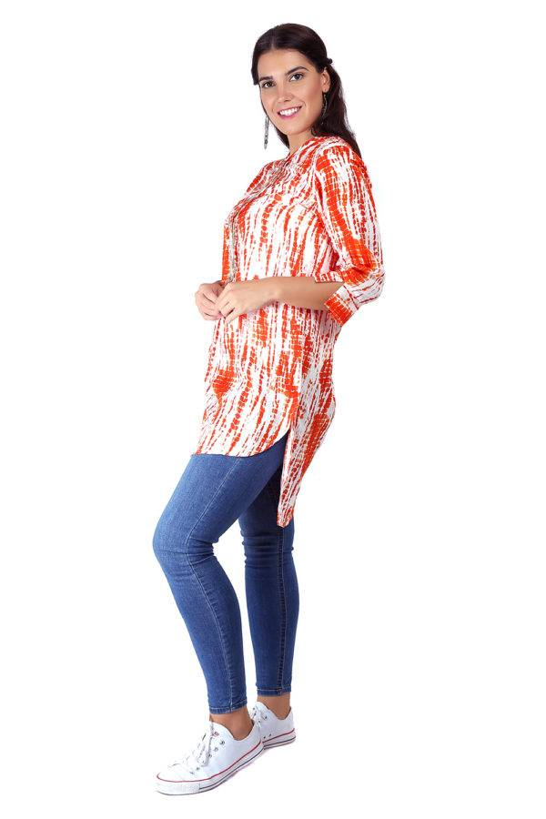 orange tie-dye short kurti8
