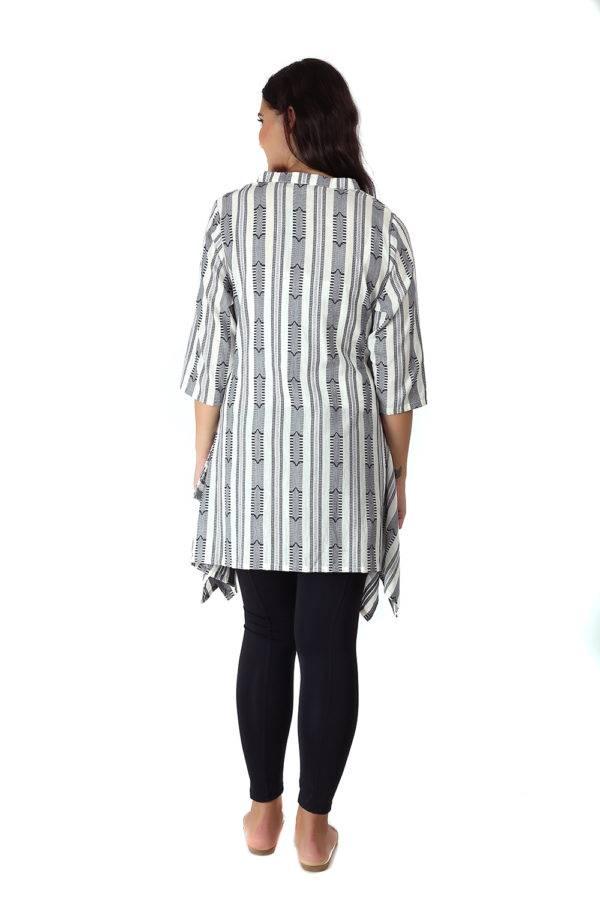White & grey short kurti