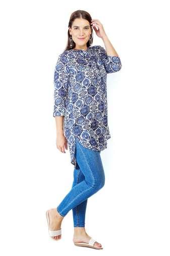 short blue kurti5