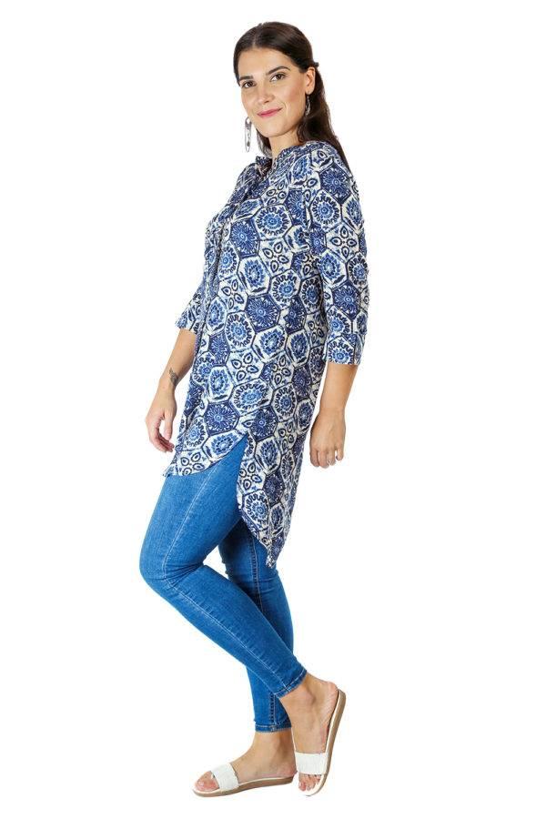 short blue kurti7