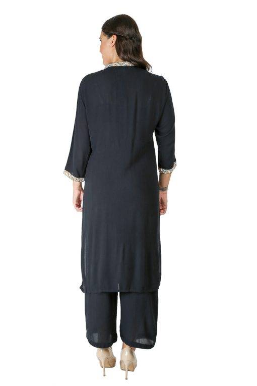Black Panel Printed Kurti8